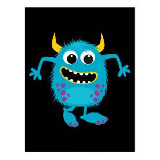 Custom Retro Monster Postcard