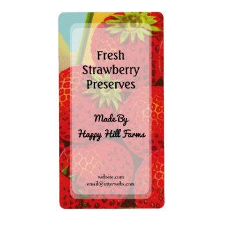 Custom Retro Strawberry Crate Art Canning Labels
