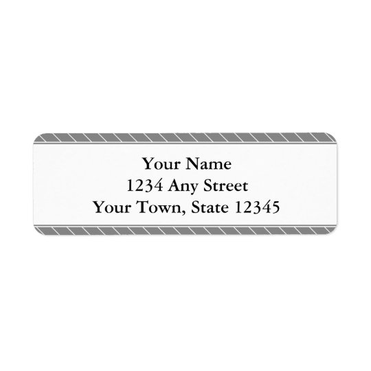 Custom Return Address Label - Grey Stripes