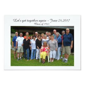 Custom Reunion Photo Invitation