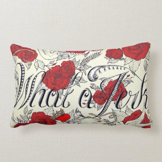 Custom Rockabilly Tattoo Design Double Sided Lumbar Pillow