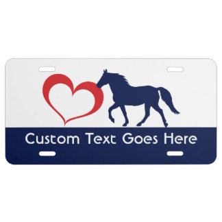 Custom Rocky Mountain Horse Heart Silhouette 2 License Plate