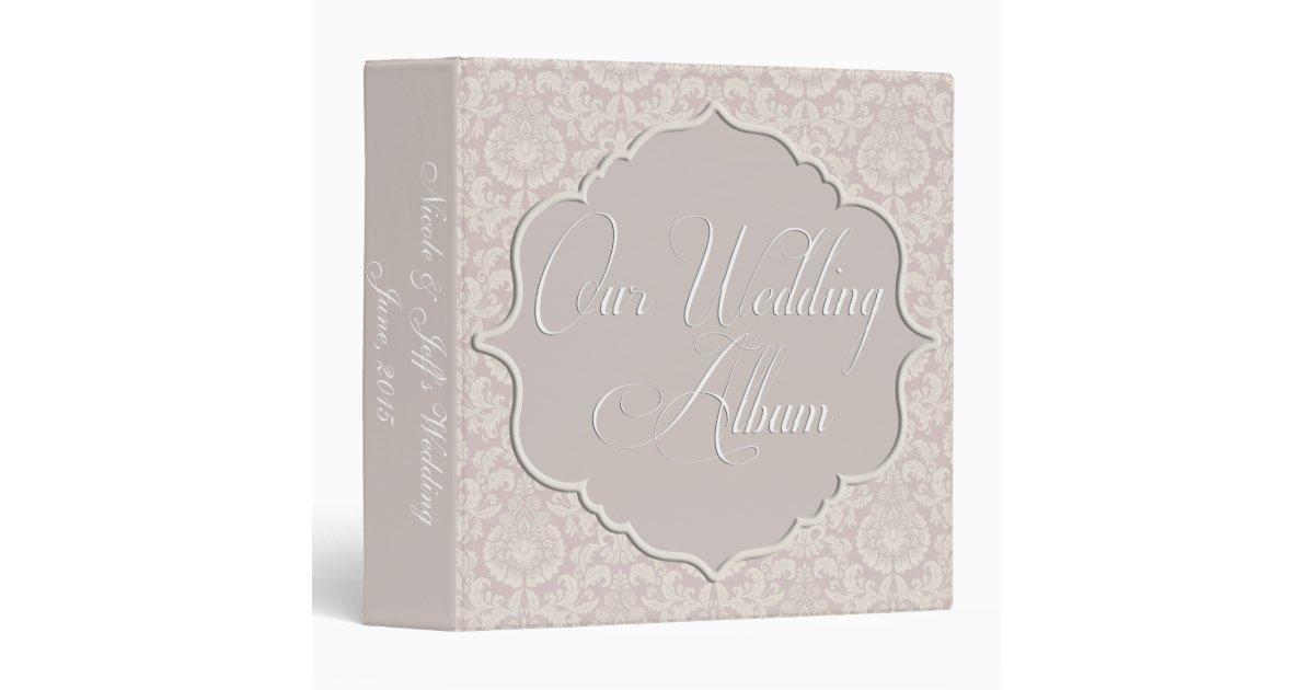 Custom romantic elegant wedding photo album binder zazzle for Zazzle custom t shirts