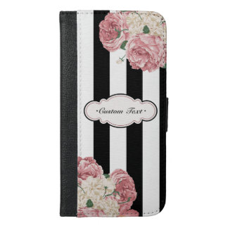 Custom Rose and Stripes iPhone 6/6s Plus Wallet Case