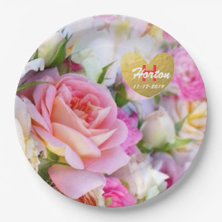Custom Rose paper Plates