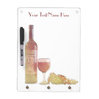 Custom Rose Wine Dry Erase Board