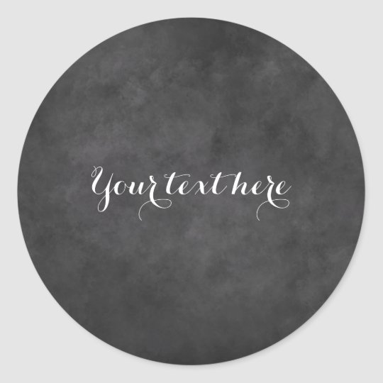 Custom round blackboard chalkboard wedding sticker