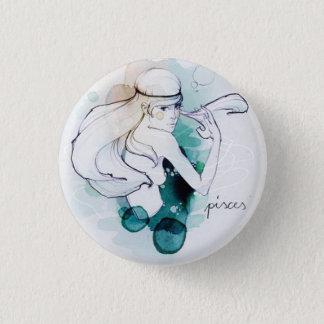 Custom round button/Pisces-woman image 1 Inch Round Button