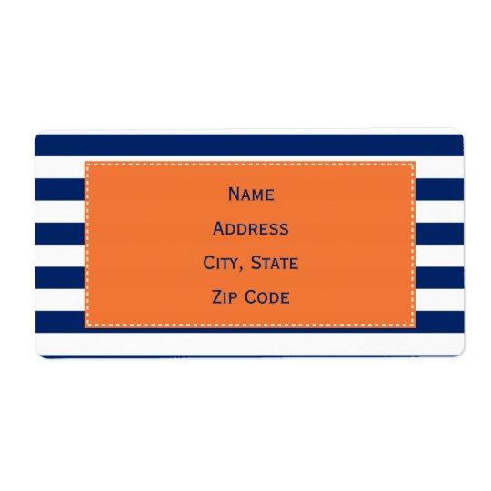 Custom Royal Blue Stripes Pattern with Orange