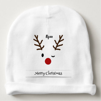 Custom Rudolph Baby Cotton Beanie Baby Beanie