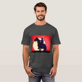 Custom Rugged Western Cowboy Vivid Sunset T Shirt
