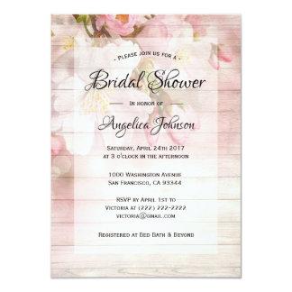 Custom Rustic Cherry Blossom Floral Bridal Shower Card