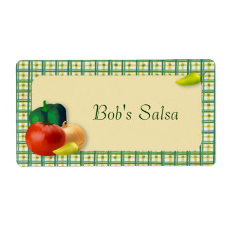 Custom Salsa Label Shipping Label