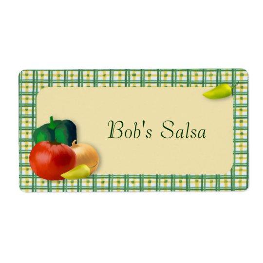 Custom Salsa Label Shipping Label