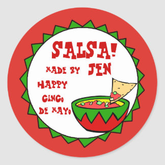 Custom Salsa Labels for Homemade Salsa