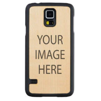 Custom Samsung Galaxy S5 Slim Maple Wood Case