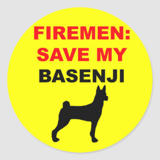 Custom Save My Basenji Classic Round Sticker
