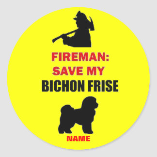 Custom Save My Bichon Frise Classic Round Sticker