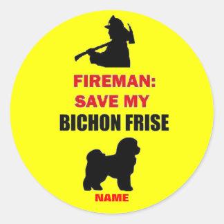 Custom Save My Bichon Frise Round Sticker