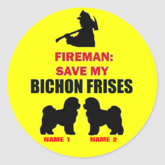 Custom Save My Bichon Frises Round Sticker