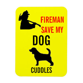 Custom Save My Dog Fire Safety Magnet