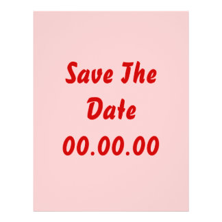 Custom Save The Date Red and Pink Flyer