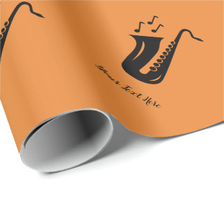 Custom saxophone Birthday or Christmas Holiday Wrapping Paper