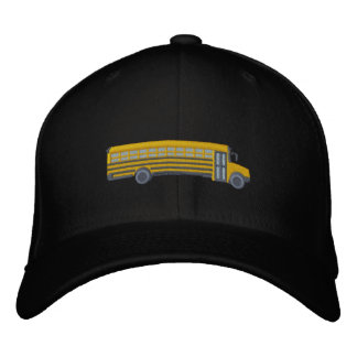 Custom School Bus Large Embroidery Embroidered Hat