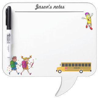 Custom school bus truck dry erase board