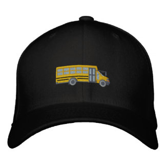 Custom School Mini Bus Large Embroidery Embroidered Hat