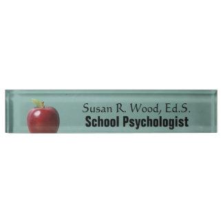 Custom School Psychologist Vintage Desk Name Plate