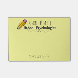 Custom School Psychologist's Post-it® Note
