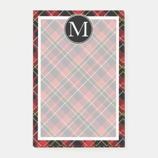 Custom Scots Red Black Yellow White Tartan Pattern Post-it Notes
