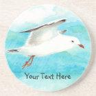 Custom Seagull & Name, Bird Collection Coaster