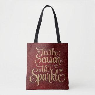 Custom Season To Sparkle Christmas Totebag Tote Bag