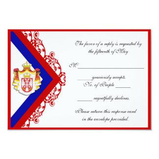 Custom Serbian Wedding Response Cards RSVP