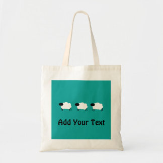 Custom Sheep Modern Graphic Design Tote Bag