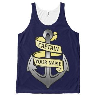Custom Ship Captain Your Name Anchor Nautical