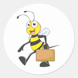Custom Shirts : Businessman Bee Shirts Classic Round Sticker