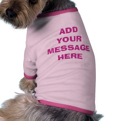 Custom Shirts for Dogs EASY TEMPLATE Doggie Tee