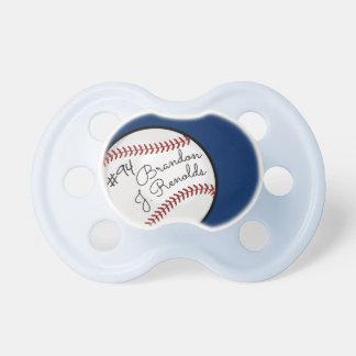 Custom Signature Baseball Pro Blue Pacifier