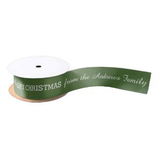 Custom Signature Christmas Ribbon Satin Ribbon