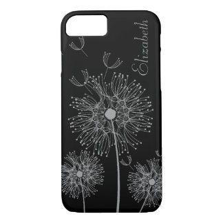Custom Silver and Black Dandelion Wishes iPhone 8/7 Case