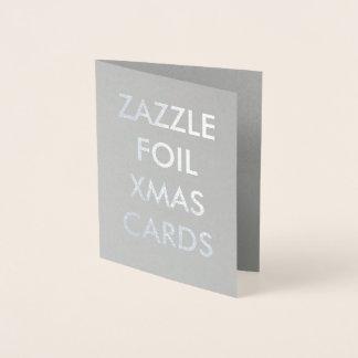 Custom Silver Foil Christmas Card