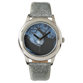 Custom Silver Glitter Watch