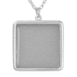 Custom Silver Plated Square Necklace miniHEARTS