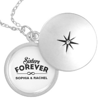 Custom Sisters Forever Locket Necklace
