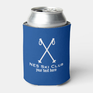 Custom Skiing Nordic Alpine Ski Pole Ski Team Can Cooler
