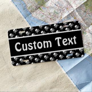 Custom Skull and Crossbones License Plate
