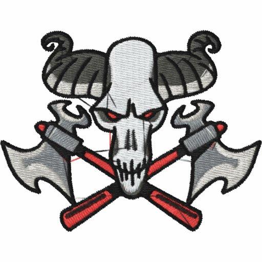 Custom Skull Embroidered Shirt